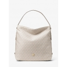 30t8tn7h7j griffin large logo jacquard shoulder bag